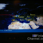 Watching the in-flight map on my way to Frankfurt, Germany