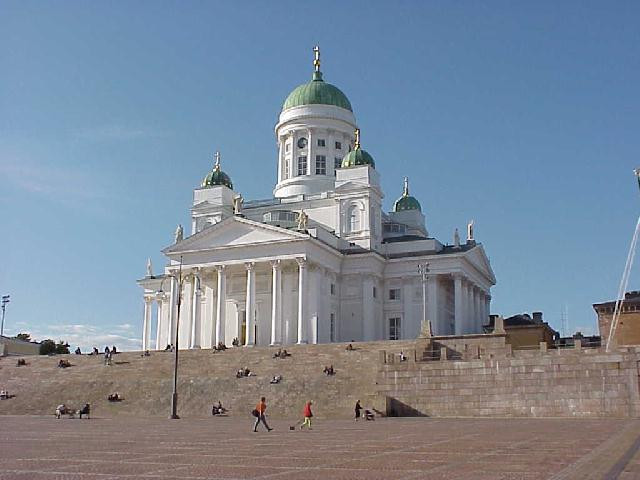The famous Lutheran cathedral in Helsinki