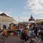 The public marketplace by Helsinki harbor