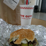 Five Guys burger. Awesome!